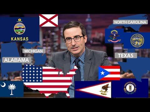 John Oliver Describes American States (Funny Compilation)
