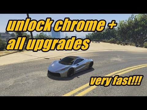 Unlock Chrome + All Upgrades! Fastest Way! (GTA Online)