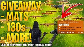 HUGE GIVEAWAY ANNOUNCED! l Fortnite Save The World