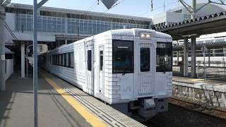 八戸線キハ110系「TOHOKU EMOTION」八戸駅発車 JR East Hachinohe Line KiHa110 series DMU