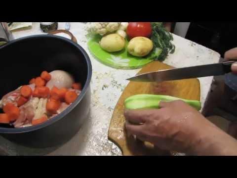 Рецепт курицы в мультиварке с овощами