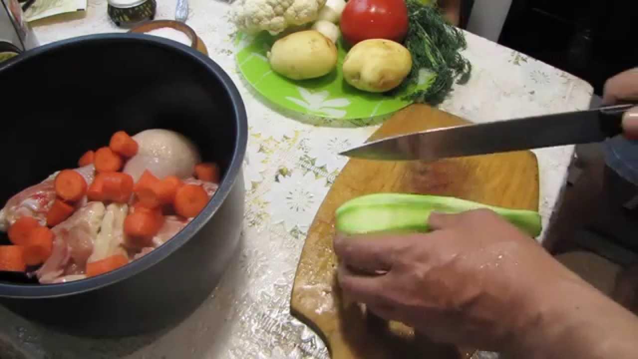 курица с овощами в мультиварке рецепт с фото