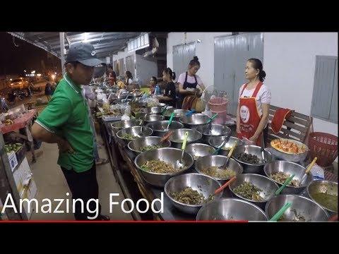 Laos Street Food - Food Shop dinner in Laos