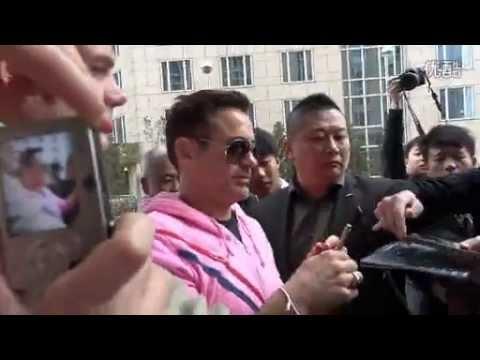 Robert Downey Jr arrives in Beijing - Iron Man 3 Press Tour
