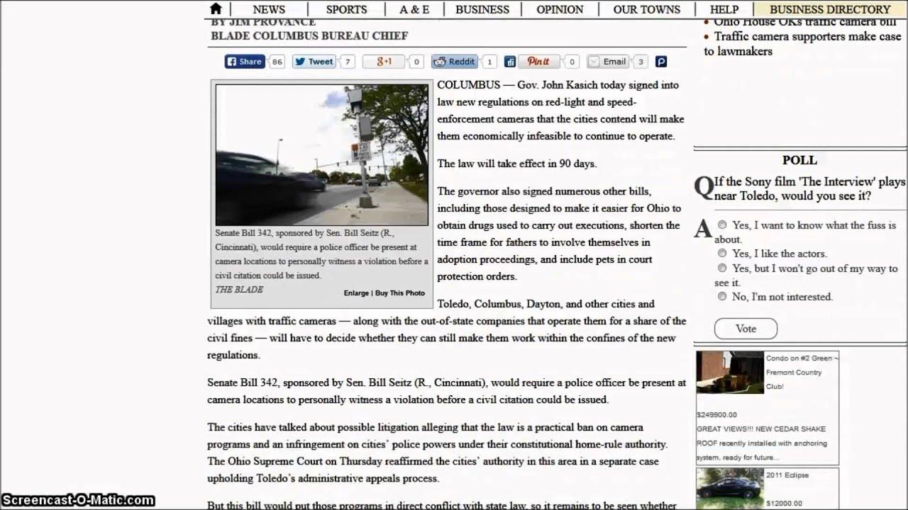 Ohio Gov  Grinch John Kasich Signs Red Light Camera Bill Into Law