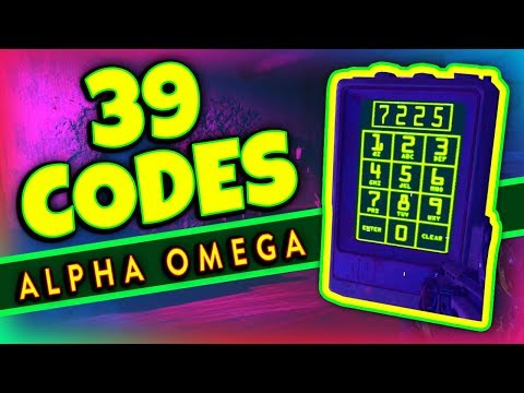 "ALL (39 Secret Easter Egg Codes) & What They Do ""Alpha Omega"" DLC 3 Zombies BO4 (Rushmore)"