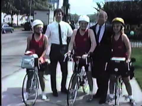 Jeff Bravin Bike Across America 1988