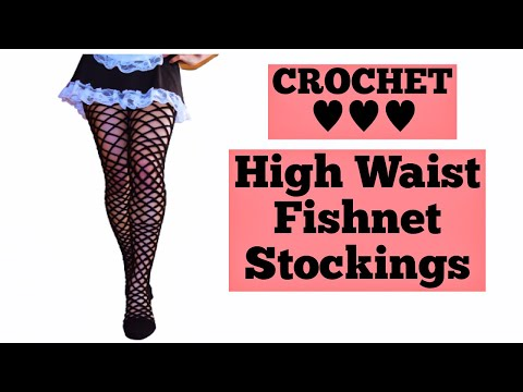 How To Crochet  Fishnet Stockings// Crochet Fishnet Tights//Crochet Fishnet Pantyhose For All Sizes