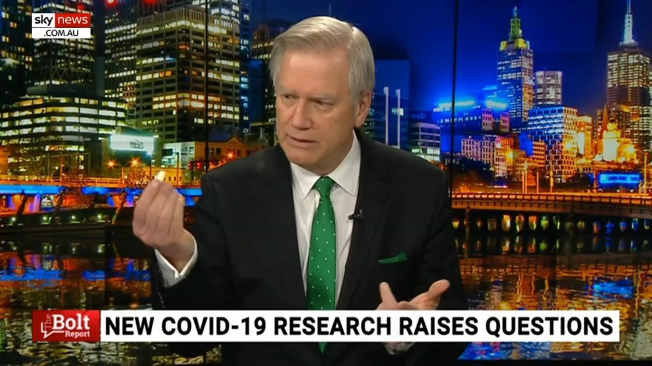 Andrew Bolt tests himself for coronavirus live on air