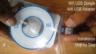 wifi usb dongle | step by step Quantum QHM150 wifi usb adapter installation (Hindi)