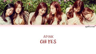 Apink (에이핑크) Oh Yes Color Coded Lyrics