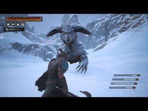 Hielo Negro y Luchando Contra el Dragon de Hielo con mi Mejor Esclavo!!  Conan Exiles PS4