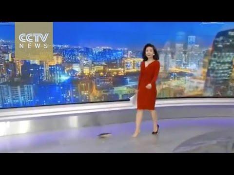 CCTVNEWS anchor's spontaneity