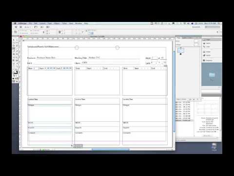 Storyboard InDesign how-to tutorial