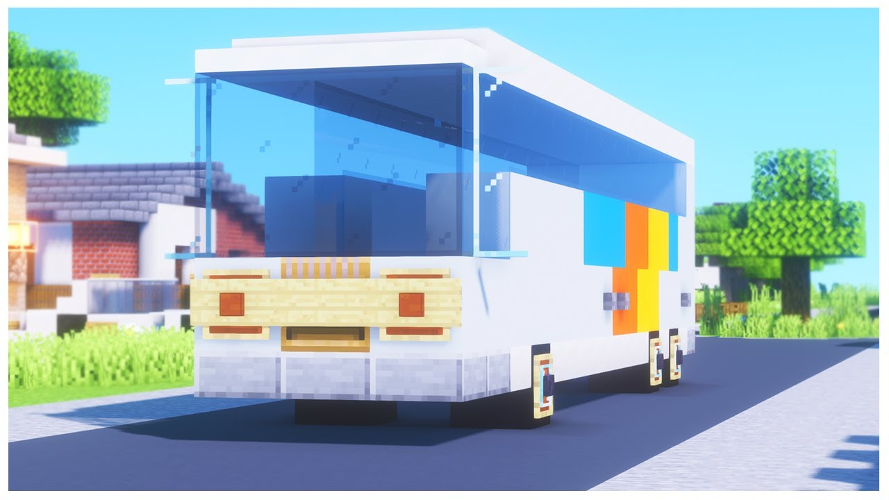 Minecraft Vehicle Tutorial - Stage Coach Bus - YouTube