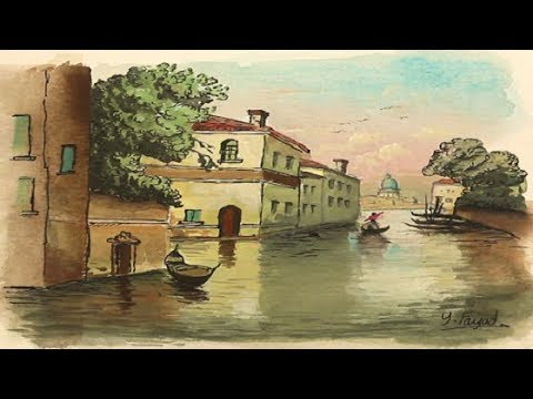 Draw Pen And Wash Watercolor Canal With Yasser Fayad