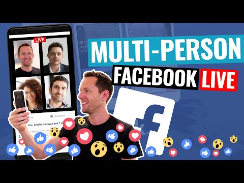 Facebook Live With 2 People! (how to add guests into your Facebook Live stream)