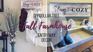 DIY DOLLAR TREE FALL FARMHOUSE ENTRYWAY DECOR