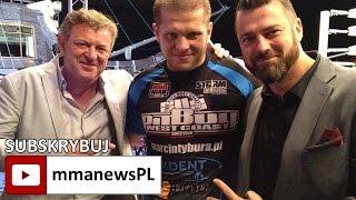 Marcin Tybura poddał Damiana Grabowskiego przez duszenie (+walka)