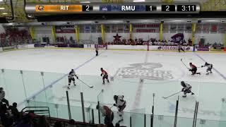 RIT Men's Hockey Highlights at Robert Morris, 2-9-18