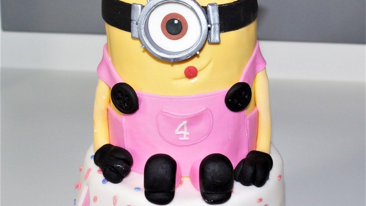 Cake decorating tutorials | how to make a 3D MINION CAKE ...