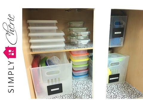 Declutter with Me! the Plastic Containers Cabinet (kitchen series) {Ep. 2 of 4}