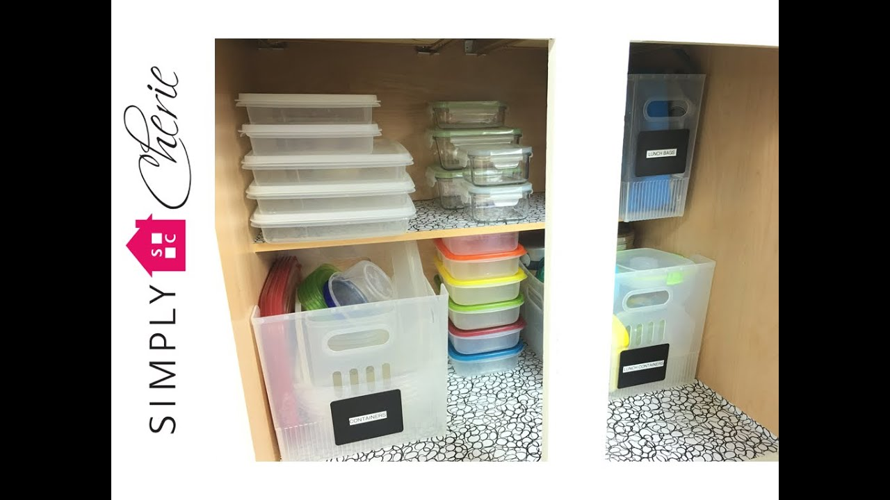 Declutter with Me! the Plastic Containers Cabinet (kitchen series ...