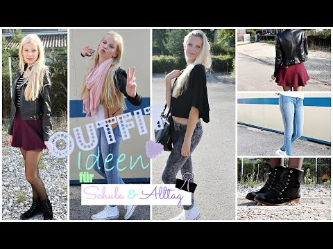Outfit Ideen Schule Alltag Youtube