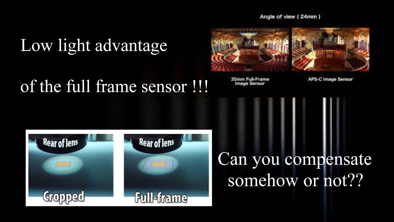 Advantages of Full Frame sensor over the smaller sensors in low ...