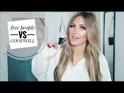 FREE PEOPLE vs GOODWILL HAUL | Paige Danielle