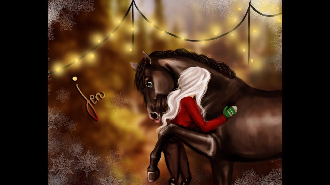 Horses In The Fall Wallpaper Sso Christmas Speedpaint Jenny Ponysmith