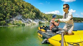 Рыбалка с сыном - ЛОВЛЯ СОМА В ЗЕЛЁНОМ МОРЕ | Рыбалка на спиннинг
