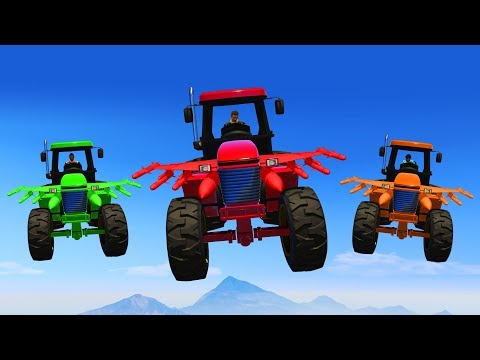 WE MADE A TRACTOR FLY!? (GTA 5 Funny Moments)