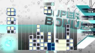 Lumines: Electronic Symphony Vita Gameplay