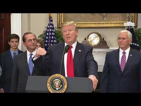 President Trump Participates in the Swearing-in Ceremony for Secretary Alex Azar
