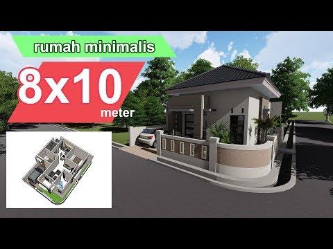 Rumah Minimalis 8 X 10 Meter & Interior Design