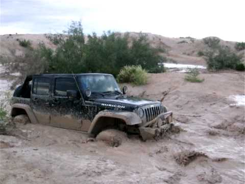 Jeep El Paso >> Jeep Rubicon stuck in a little mud hole, El Paso TX - YouTube