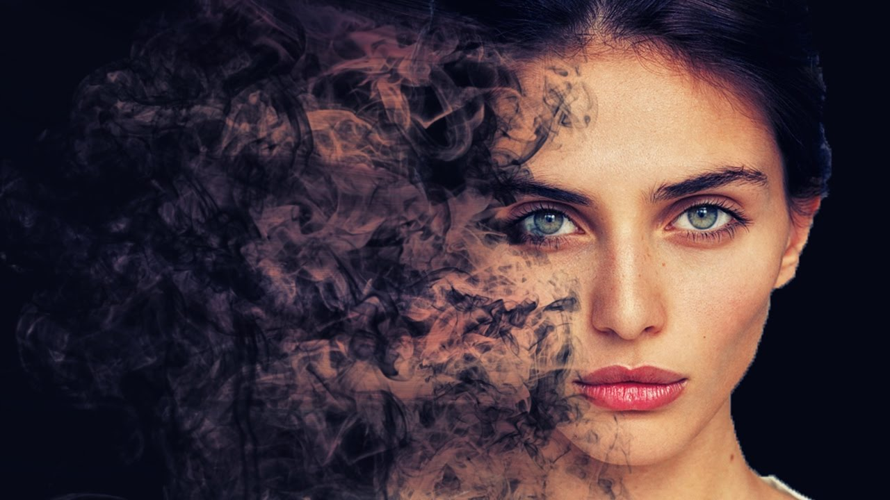 Smoke dispersion face photoshop effect tutorial cs6cc youtube baditri Choice Image