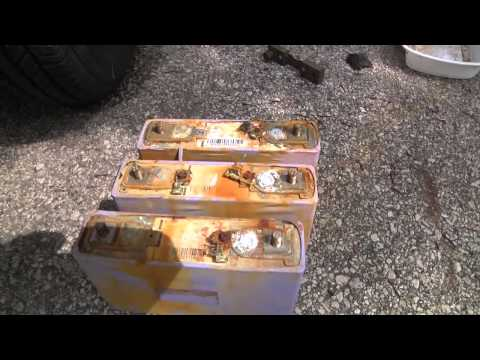 Lithium Salvage - Mitsubishi iMIEV Electric car battery pack recycling