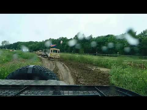 Snatch Land Rover in the War & Peace show arena July 2017