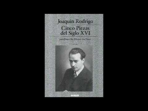 Joaquín Rodrigo: Cinco piezas del siglo XVI (1938). Claudio Carbó, piano. Live recording