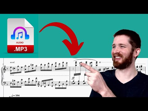 How to Instantly Convert an mp3 Audio File into Sheet Music for Free! AnthemScore and MuseScore!