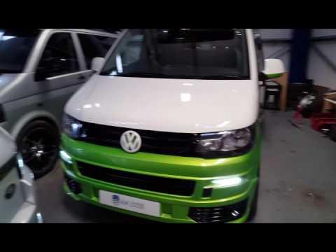 CLR prestige VW T5 Camper 2 Tone Viper Green 4 Berth 2013 - YouTube