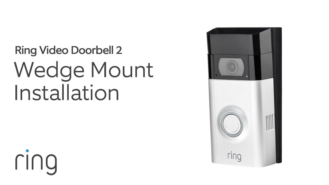Ring Video Doorbell 2: Wedge Mount Installation on
