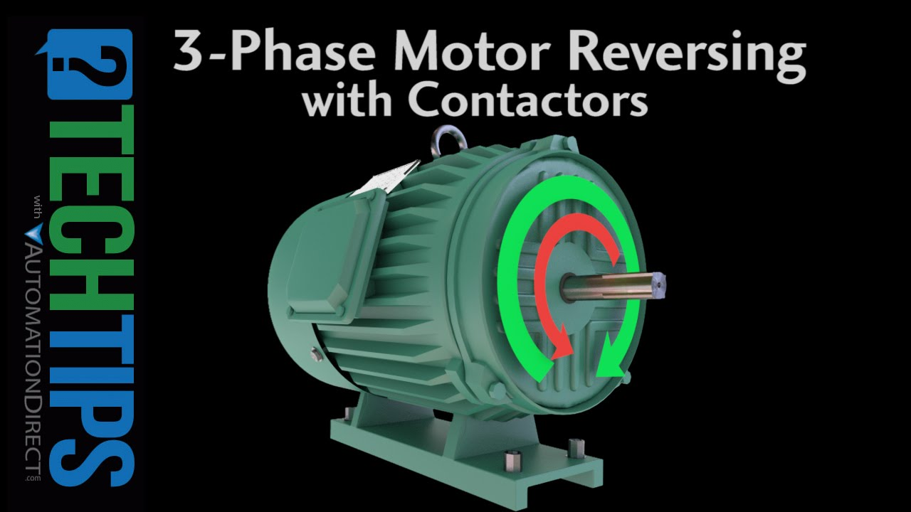 Tech Tip Learn How To Properly Reverse The Direction Of A Three 10 Hp Motor Wiring Diagram Phase Using Contactors