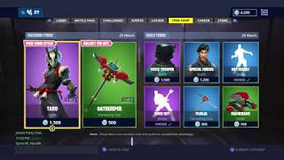NEW TARO AND NARA SKINS OUT NOW! | FORTNITE ITEM SHOP TODAY! | FORTNITE (25/11/2018)