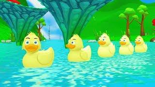 Five Little Ducks |Kids song - The kids song