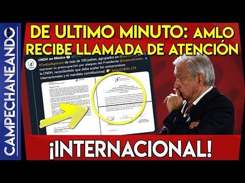 DE ULTIMO MINUTO: AMLO RECIBE LLAMADA DE ATENCIÓN ¡INTERNACIONAL!