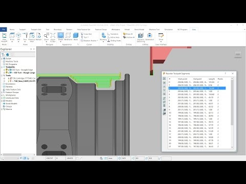 Editable Turning Toolpaths - PowerMill 2018