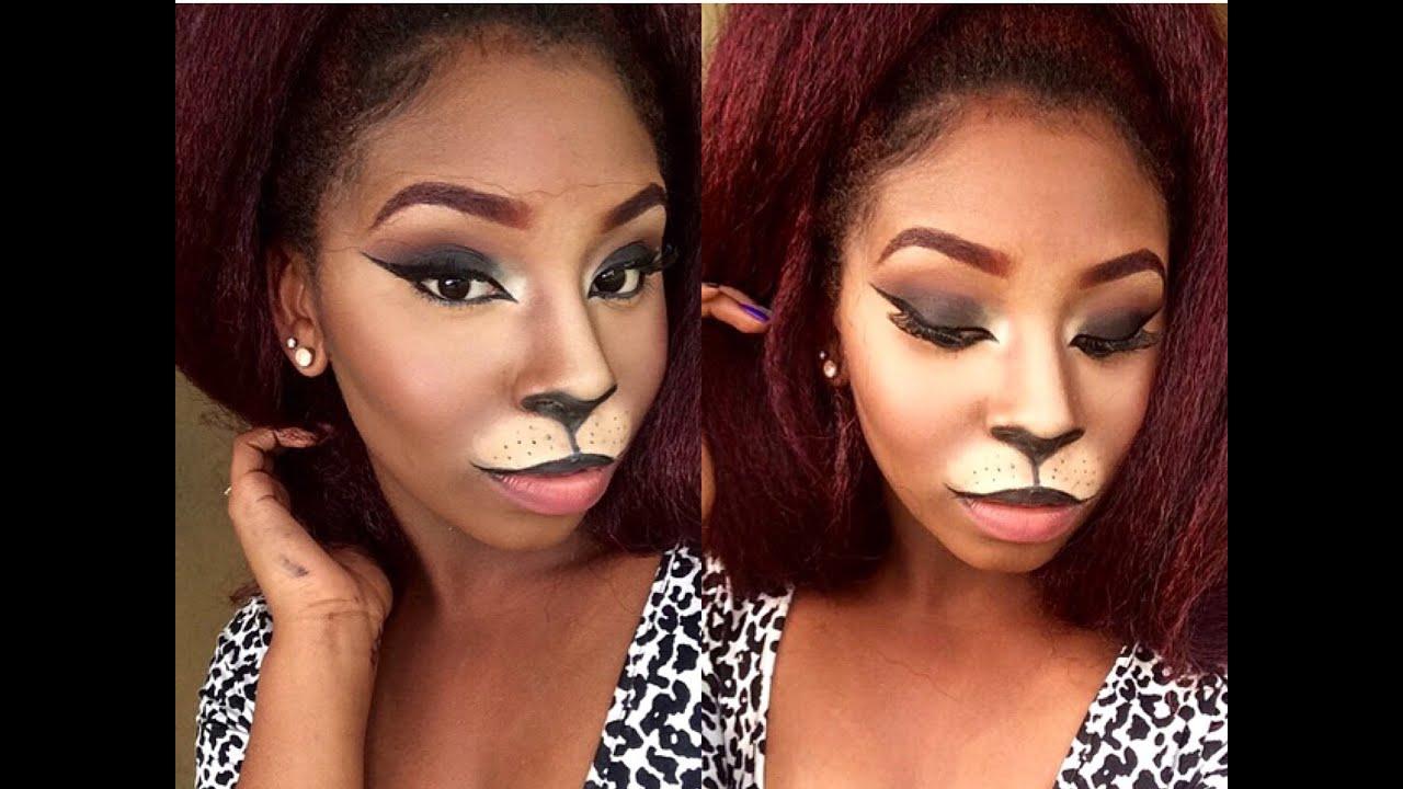 Cat Costume Makeup Tutorial Halloween 2015 Youtube - Cat-costume-makeup